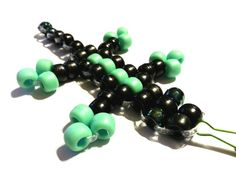 Lizards of Love  Black and MInt Green with Oil by WeirdlyItsMe, $3.50
