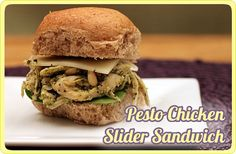 Pesto Chicken Slider Sandwhich This would be great at a superbowl party too ! Spinach Stuffed Chicken, Pesto Chicken, Grilled Sandwich, Sandwich Recipes, Cold Chicken Salads, Slider Sandwiches, Chicken Sliders, Night Food, Diy Food