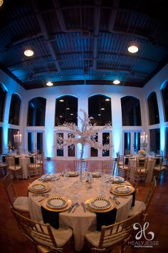 The ballroom at Blue Rock Estate. This gorgeous room seats 80-102 depending on your dance floor and tables. #bluerockestate #drippingsprings #hillcountrywedding www.bluerockestate.com Dripping Springs, Texas Hill Country, Blues Rock, Spring Wedding, Wedding Venues, Table Decorations, Tables, Floor, Dance