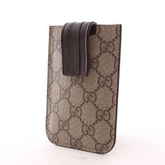 klassisches smartphone case von gucci in beigegrau top. Black Bedroom Furniture Sets. Home Design Ideas