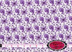 PURPLE PAISLEY Fabric by the Yard Half Yard or Fat by FabricBrat, $2.25