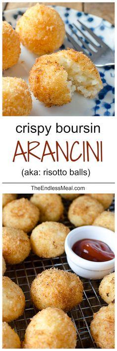 Always looking for road trip nibbles. Crispy Boursin Arancini #sicilianfood #arancini #sicilia #sicily #arancine