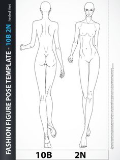 fashion design templates front and back - Google Search