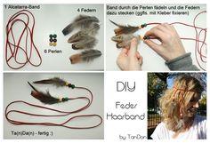 DIY Feder Haarband // DIY Feather Headband