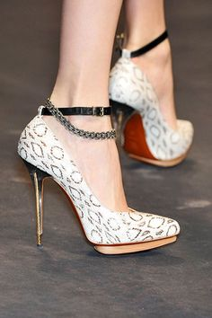 One of my fav shoes ever! Chained Lanvin with white leopard pattern  #Lanvin #Spring2010 #shoes