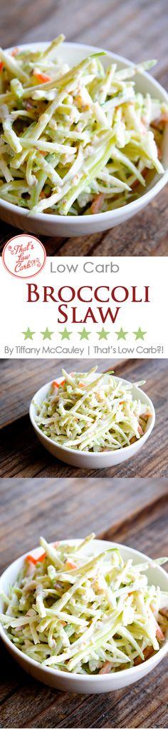 Low Carb Recipes | Low Carb Broccoli Slaw Recipe | Low Carb Side Dishes | Low Carb | Recipes ~ http://www.thatslowcarb.com