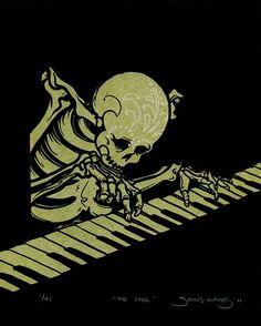 cute #skeleton #piano
