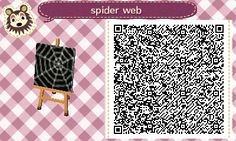 "crossingcreep: ""here's the qr code for the spider web pattern on my furniture ~ use for all ur spooky needs """