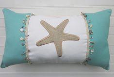 Inspiration for Coastal Living Aqua and Tan Starfish Pillow