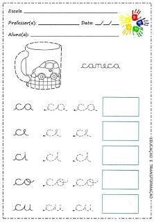 School Portal: Activities to work with simple syllables . Ideal for children in the process of literacy . Literacy Worksheets, Math Literacy, Tracing Worksheets, Dinosaurs Preschool, Alphabet Tracing, Christmas Math, Cvc Words, Syllable, Toddler Learning Activities