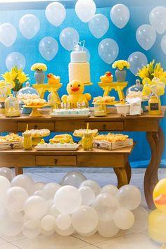 Attractive Festa Tema Banho: Decoração De Festa Infantil Com O Tema Banho E Patinhos.  Inspirações