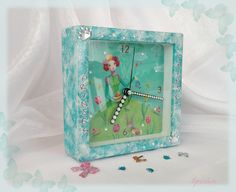 часы Принцесса- clock Princess the picture is made specifically for hours program PS 6 and Decoupage technique. size 13*13*4 prise: 20.00 euros