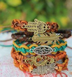 ☯☮ॐ Bohemian Hippie Style Jewelry ~ Bracelets!