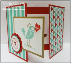 Love You More, tri fold card, Valentine, Connie Babbert, kids valentines, see more pictures on my blog:  www.inkspiredtreasures.com