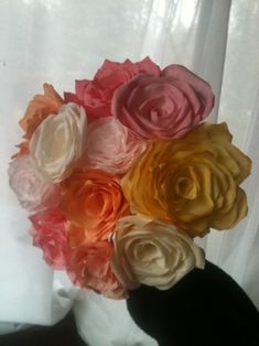 The most amazing coffee filter flowers EVER