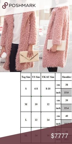 just in! pink fuzzy jacket Blush pink faux fur jacket! Brand new with tags - Boutique item.  Available size is medium which converts to a size ten according to size chart.  Posh rules No paypal No lowballs  Price firm unless bundled  I'm a suggested user and party host, posh ambassador, posh mentor, and I'm five star rated so buy with confidence!  H A P P Y  P O S H I N G   kady's kloset Jackets & Coats Trench Coats Pink Fuzzy Jacket, Pink Faux Fur Coat, Faux Fur Jacket, Trench Coats, Fashion Tips, Fashion Design, Fashion Trends, Final Sale