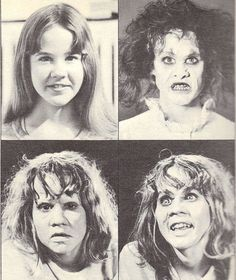 Linda Blair-and various test make-ups for the EXORCIST (1973)