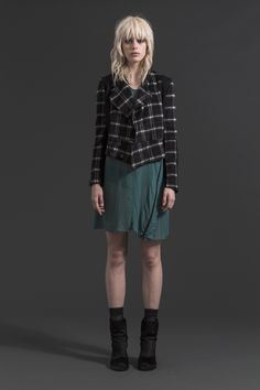 Riot Jacket | Gone Wrong Dress  #jade #check #jacket #wool #companyofstrangers