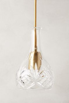 Hand-Cut Decanter Pendant Lamp, Bell - anthropologie.com #anthrofave