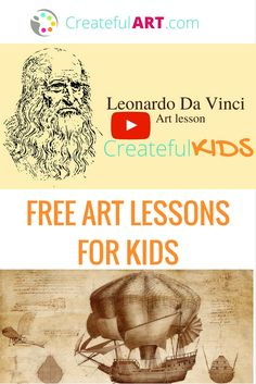 Meet Leonardo Da Vinci! FREE Video art lesson with fun art project for kids!