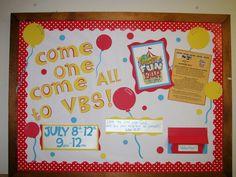 Everywhere Fun Fair VBS Bulletin Board   Carnival theme