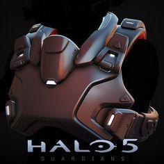 Halo5 - Icarus Chest Armor, Josh Dina on ArtStation at https://www.artstation.com/artwork/JR14D