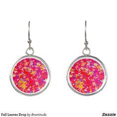 Wood Earrings, Leaf Earrings, Jewelry Ideas, Jewelry Design, Halloween Earrings, Fall Leaves, Coin Purse, Plating, Perfume