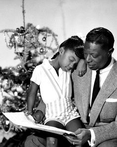 Nat King Cole with his daughter Natalie, c. 1955