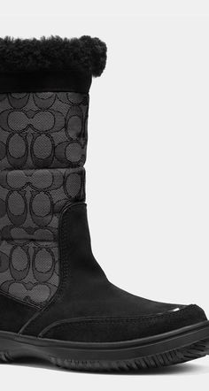 Luxury meets cold weather utility | COACH SHERMAN SIGNATURE BOOT