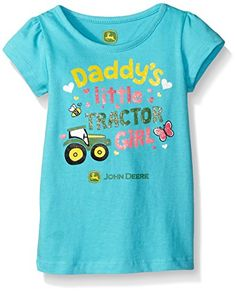 John Deere Girls Daddys Tractor Tee Turquoise 12 Months *** Want to know more, click on the image.