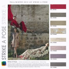 Colour and Print Trends for Autumn / Winter 13/14 - strike a pose - red/grey/nude