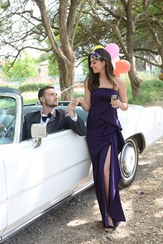 purple evening dress , strapless prom dress , slit dress