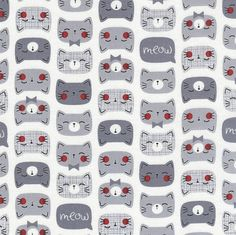 TIMELESS TREASURES J/'aime mon chat mots 100/% Coton Patchwork Tissu