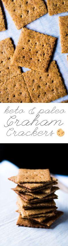 Gluten Free & Keto Graham Crackers  #ketograhamcrackers #lowcarbgrahamcrackers