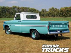 1966 Chevy Truck Rear View. I LOVE this. When I'm no longer driving three boys around, I'd love to own this baby!