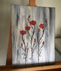 Acrylic on canvas Poppy's
