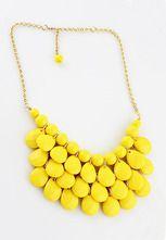 Collar beads-Amarillo