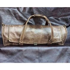 Brown Leather Chef Bag Knives Leather Bag Chef's by YaelHeffer