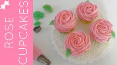 How To Pipe Easy Rose Swirl Cupcakes // Lindsay Ann Bakes Swirl Cupcakes, Fancy Cupcakes, Buttercream Cupcakes, Flower Cupcakes, Vanilla Cupcakes, Rose Cupcake, Cupcake Fondant, Valentine Cupcakes, Birthday Cupcakes