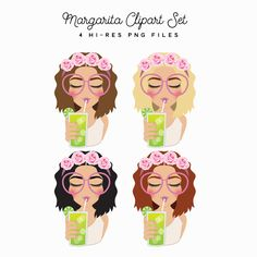 Margarita Flower Crown Cutie Set – Little Magic Prints