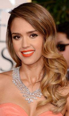 Golden Globes 2013 hair trend: Side-swept Hollywood waves