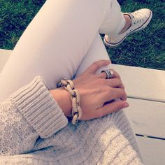 All cream and white with white Converse? Yes, please.