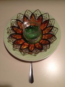 Beautiful garden plate art made at Better Than Ever, Paducah, KY. Pick up some dishes at Anything Goes Trading Co. when they have their famous parking lot sales!