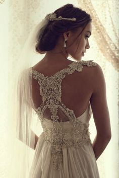 Beautiful back dresses. Anna Campbell bridal collection.