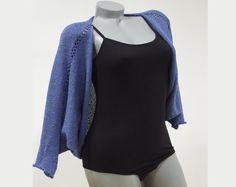 Light knit womens cardigan Simple blue open top by CleopatraArt, €34.00
