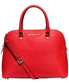 90d4f7918bba MICHAEL Michael Kors Cindy Large Dome Satchel Handbags & Accessories -  Macy's