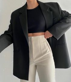 Classy Outfits, Trendy Outfits, Fall Outfits, Black Outfits, Dance Outfits, Vintage Outfits, Look Fashion, Korean Fashion, Winter Fashion
