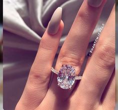 Oval Cut Light Pink Diamond 4 Prong Engagement Ring Solid White Gold … carat pink diamond engagement ring with 4 oval cut tines, solid, white gold Bling Bling, Bridal Rings, Wedding Rings, Wedding Nails, Gold Wedding, Rustic Wedding, Wedding Reception, Wedding Ideas, Dream Engagement Rings
