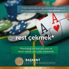 rest çekmek. Herhangi bir konuda sert ve kesin olarak son sözü söylemek. Poker oyununda, bir oyuncu önündeki paranın tümünü ortaya koyarsa buna rest çekmek denir. (Kaynak: Instagram - baskentiletisim) #türkçe #türkçedili #bilgi #kelime #kelimeler #anlam #özet #kökeni #güzel #güzelkelimeler #bazıkelimelerçokgüzel #lügat #doğrutürkçe