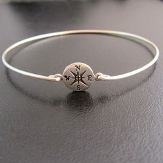 Compass Bracelet Compass Jewelry Nautical Jewelry by FrostedWillow